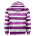 Metallic Pink Glitter Stripes Men s Pullover Hoodie View2