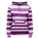 Metallic Pink Glitter Stripes Women s Pullover Hoodie View1