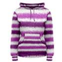 Metallic Pink Glitter Stripes Women s Pullover Hoodie View1