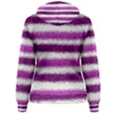 Metallic Pink Glitter Stripes Women s Pullover Hoodie View2