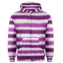 Metallic Pink Glitter Stripes Men s Zipper Hoodie View1