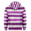 Metallic Pink Glitter Stripes Men s Zipper Hoodie View2