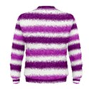 Metallic Pink Glitter Stripes Men s Sweatshirt View2