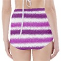 Metallic Pink Glitter Stripes High-Waisted Bikini Bottoms View2