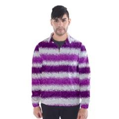 Metallic Pink Glitter Stripes Wind Breaker (Men)