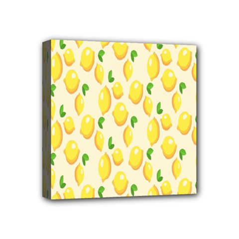 Pattern Template Lemons Yellow Mini Canvas 4  x 4