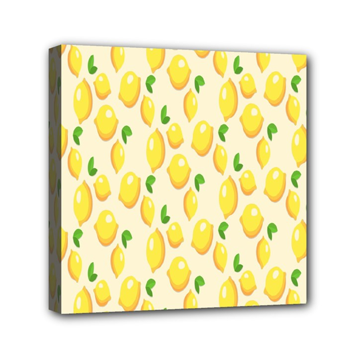 Pattern Template Lemons Yellow Mini Canvas 6  x 6