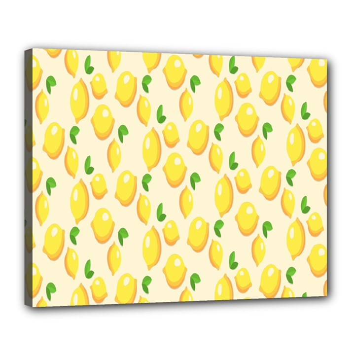 Pattern Template Lemons Yellow Canvas 20  x 16