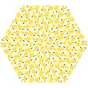 Pattern Template Lemons Yellow Mini Folding Umbrellas View1