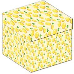 Pattern Template Lemons Yellow Storage Stool 12