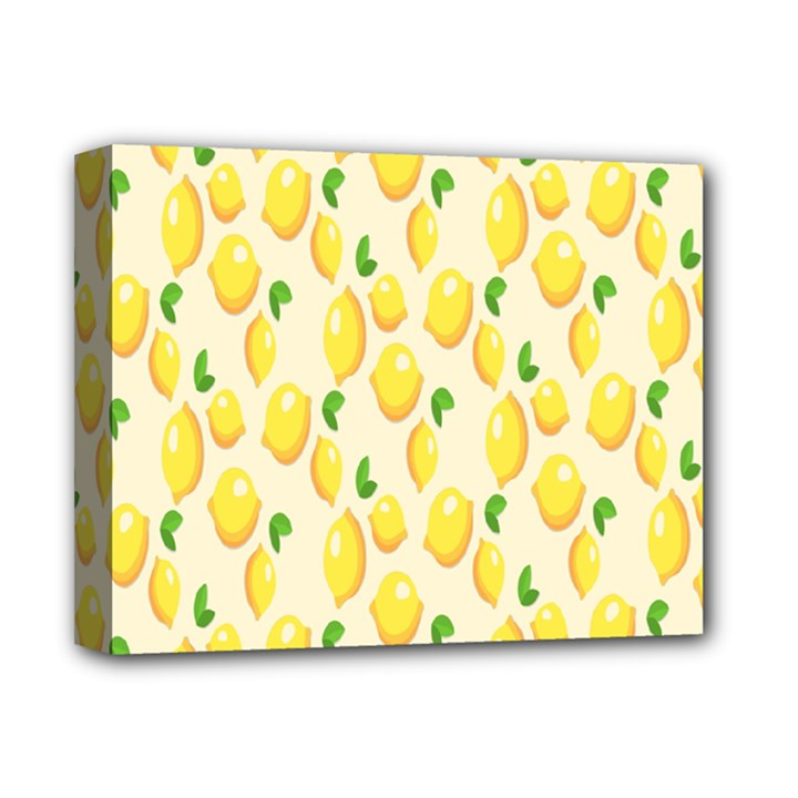 Pattern Template Lemons Yellow Deluxe Canvas 14  x 11
