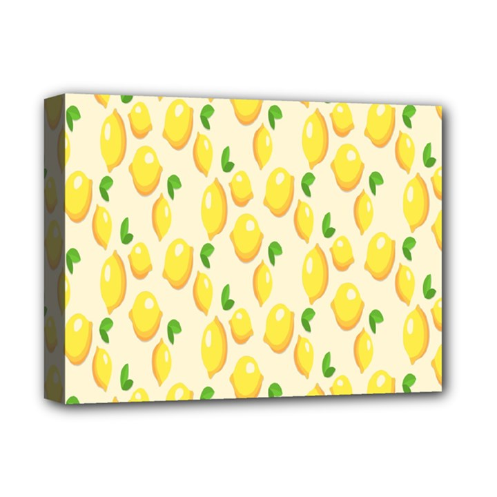 Pattern Template Lemons Yellow Deluxe Canvas 16  x 12
