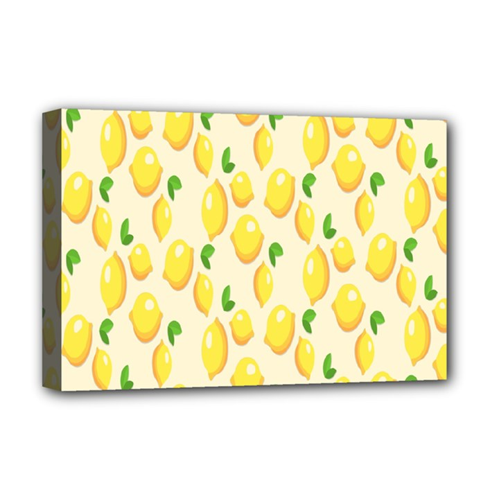 Pattern Template Lemons Yellow Deluxe Canvas 18  x 12