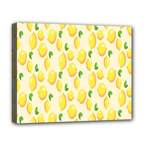 Pattern Template Lemons Yellow Deluxe Canvas 20  x 16