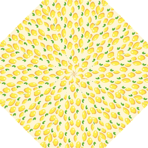 Pattern Template Lemons Yellow Hook Handle Umbrellas (Large)