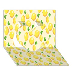 Pattern Template Lemons Yellow Heart 3D Greeting Card (7x5)