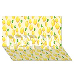 Pattern Template Lemons Yellow BEST SIS 3D Greeting Card (8x4)