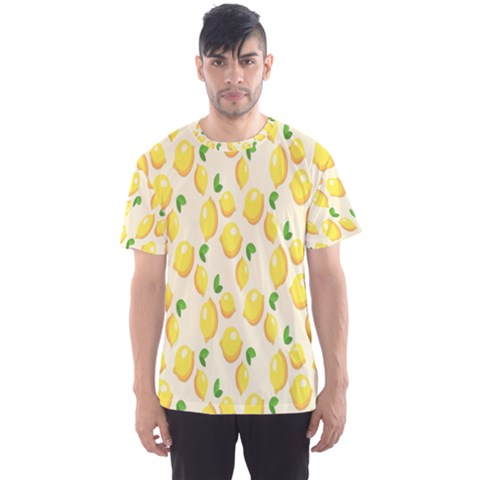 Pattern Template Lemons Yellow Men s Sport Mesh Tee