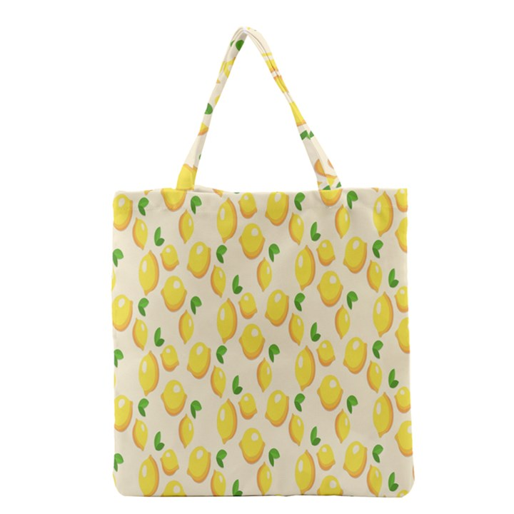 Pattern Template Lemons Yellow Grocery Tote Bag
