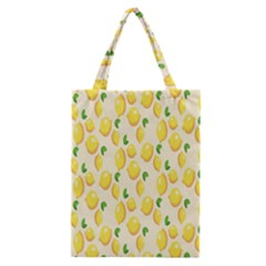 Pattern Template Lemons Yellow Classic Tote Bag