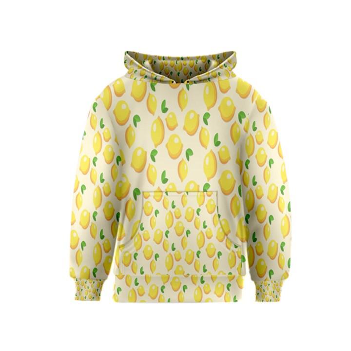 Pattern Template Lemons Yellow Kids  Pullover Hoodie