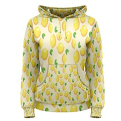 Pattern Template Lemons Yellow Women s Pullover Hoodie