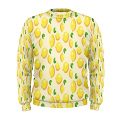 Pattern Template Lemons Yellow Men s Sweatshirt