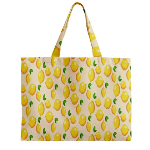 Pattern Template Lemons Yellow Zipper Mini Tote Bag