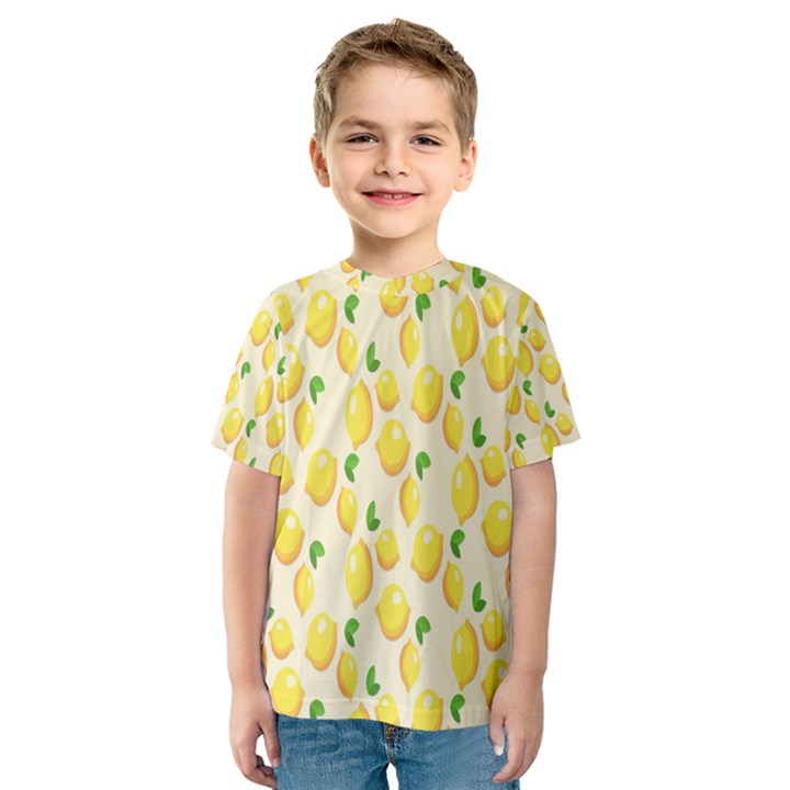 Pattern Template Lemons Yellow Kids  Sport Mesh Tee