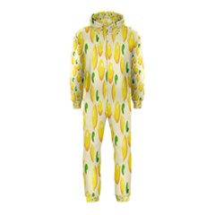 Pattern Template Lemons Yellow Hooded Jumpsuit (Kids)