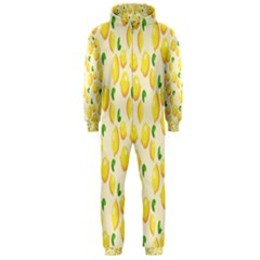Pattern Template Lemons Yellow Hooded Jumpsuit (Men)