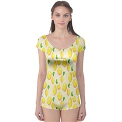 Pattern Template Lemons Yellow Boyleg Leotard