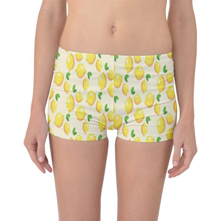 Pattern Template Lemons Yellow Boyleg Bikini Bottoms