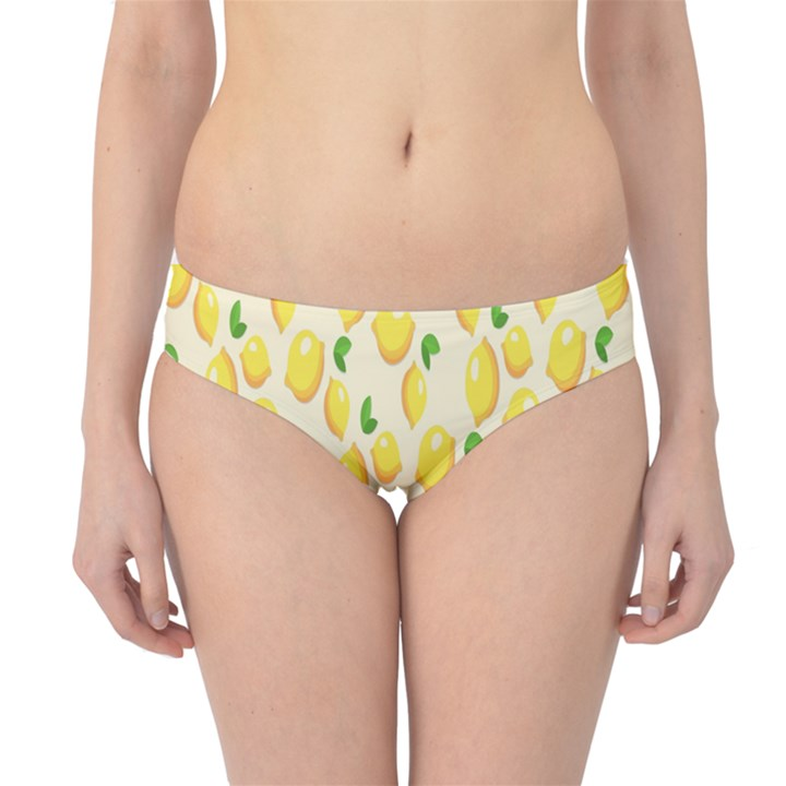 Pattern Template Lemons Yellow Hipster Bikini Bottoms