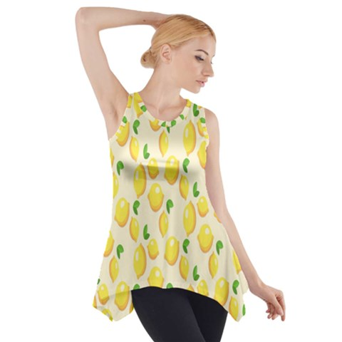 Pattern Template Lemons Yellow Side Drop Tank Tunic
