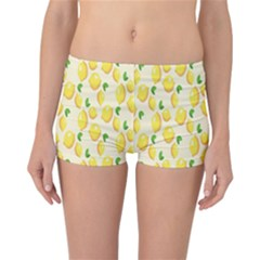 Pattern Template Lemons Yellow Reversible Boyleg Bikini Bottoms