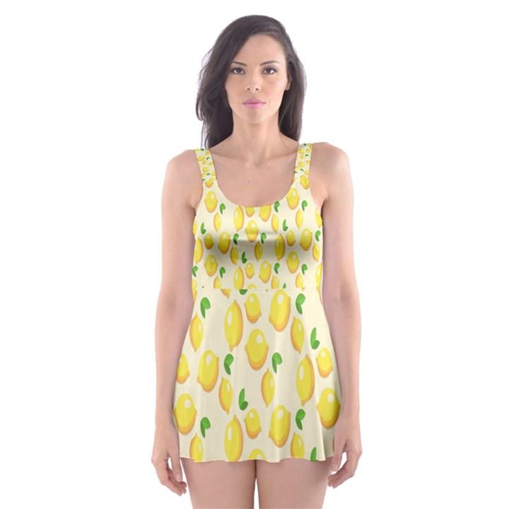 Pattern Template Lemons Yellow Skater Dress Swimsuit