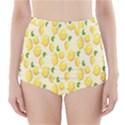 Pattern Template Lemons Yellow High-Waisted Bikini Bottoms View1