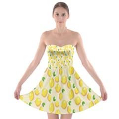 Pattern Template Lemons Yellow Strapless Bra Top Dress