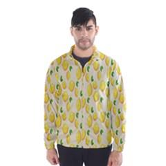 Pattern Template Lemons Yellow Wind Breaker (Men)
