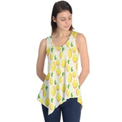 Pattern Template Lemons Yellow Sleeveless Tunic