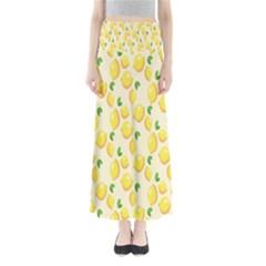 Pattern Template Lemons Yellow Maxi Skirts