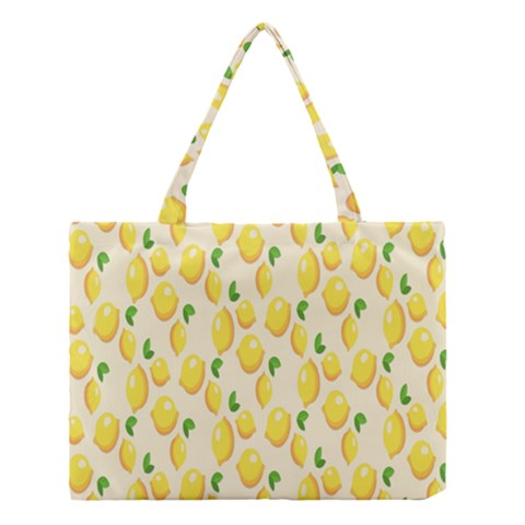 Pattern Template Lemons Yellow Medium Tote Bag