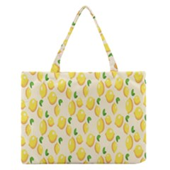 Pattern Template Lemons Yellow Medium Zipper Tote Bag