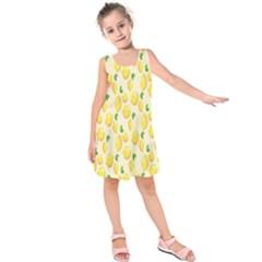 Pattern Template Lemons Yellow Kids  Sleeveless Dress