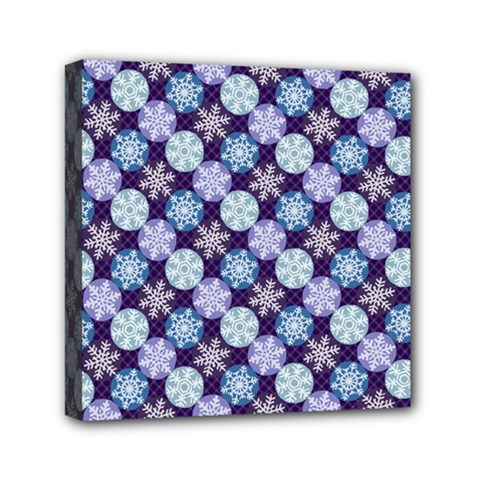 Snowflakes Pattern Mini Canvas 6  X 6
