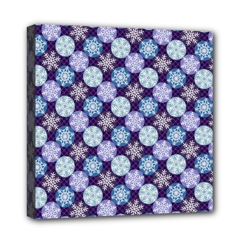 Snowflakes Pattern Mini Canvas 8  x 8