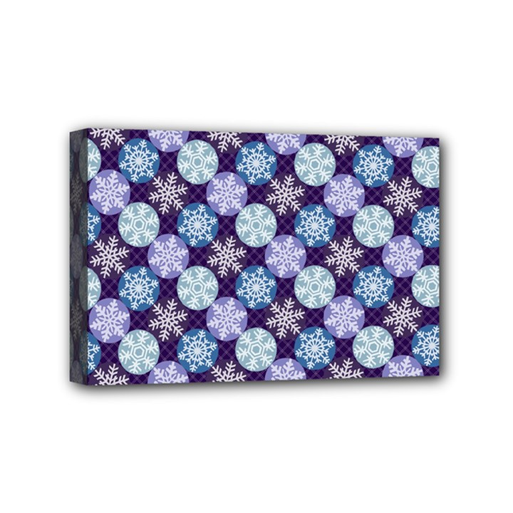 Snowflakes Pattern Mini Canvas 6  x 4
