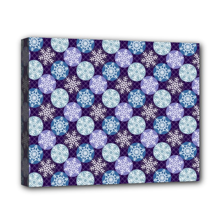 Snowflakes Pattern Canvas 10  x 8