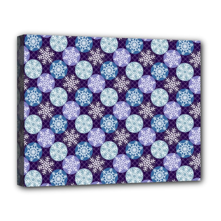 Snowflakes Pattern Canvas 14  x 11